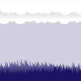 Vector design elements - grass and clouds. Ground and sky Stock Photo