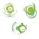 Art logo. Vector design elements in green stock illustration