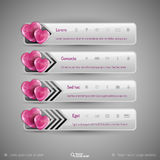 Vector design elements for infographics. Business tabs with val Royalty Free Stock Image