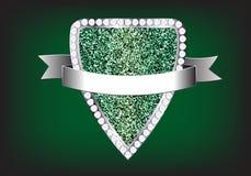 Vector design elements label diamond sparkle glitt. Design elements label diamond sparkle glitter background, Vector illustration template Stock Photography