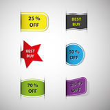 Vector Design Elements for Product Sale Royalty Free Stock Image
