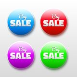 Vector design elements with sale text. 3D Abstract Royalty Free Stock Photography