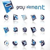 Vector design elements. Set 12. EPS available royalty free illustration