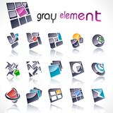 Vector design elements. Set 15. Vector design elements isolated on white. Set 15 Stock Image