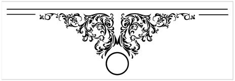 Vector Design elements for the tittle page Royalty Free Stock Image
