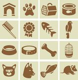 Vector design elements for veterinary Royalty Free Stock Photo