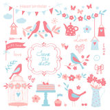 Vector design elements for wedding invitations and birthday party. Royalty Free Stock Photography