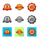 Isolated object of emblem and badge logo. Collection of emblem and sticker vector icon for stock. Vector design of emblem and badge icon. Set of emblem and royalty free illustration