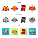 Vector design of emblem and badge logo. Collection of emblem and sticker vector icon for stock. Vector illustration of emblem and badge icon. Set of emblem and Royalty Free Illustration