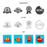 Isolated object of emblem and badge sign. Set of emblem and sticker stock symbol for web. Vector design of emblem and badge logo. Collection of emblem and royalty free illustration