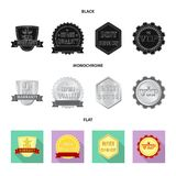 Isolated object of emblem and badge sign. Collection of emblem and sticker stock vector illustration. Vector design of emblem and badge logo. Set of emblem and Royalty Free Illustration