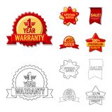 Vector design of emblem and badge sign. Collection of emblem and sticker stock vector illustration. Vector illustration of emblem and badge logo. Set of emblem Vector Illustration