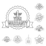 Isolated object of emblem and badge symbol. Collection of emblem and sticker stock symbol for web. Vector design of emblem and badge sign. Set of emblem and Royalty Free Illustration