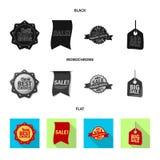 Vector design of emblem and badge sign. Set of emblem and sticker vector icon for stock. Vector illustration of emblem and badge logo. Collection of emblem and vector illustration