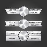 Vector design engineering concept. Stock Image