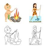 Vector design of evolution  and prehistory icon. Collection of evolution  and development  vector icon for stock. Vector illustration of evolution  and stock illustration