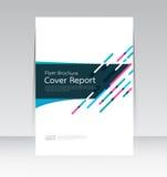 Vector Design für Abdeckungs-Berichts-Broschüren-Flieger in der Größe A4 vektor abbildung
