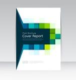 Vector Design für Abdeckungs-Berichts-Broschüren-Flieger in der Größe A4 lizenzfreie abbildung