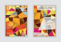 Vector Design für Abdeckungs-Berichts-jährliches Broschüren-Flieger-Plakat in A Stockbilder