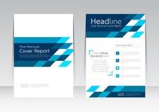 Vector Design für Abdeckungs-Berichts-jährliches Flieger-Plakat in der Größe A4 lizenzfreie abbildung