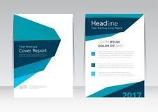 Vector Design für Abdeckungs-Berichts-jährliches Flieger-Plakat in der Größe A4 vektor abbildung
