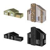 Vector design of facade and housing icon. Collection of facade and infrastructure stock vector illustration. Vector illustration of facade and housing symbol stock illustration