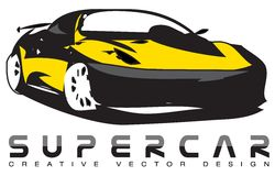 Vector design of fast race car. Creative  design of a fast luxury or racing exotic car Royalty Free Stock Photo