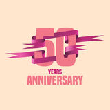 Vector design for fifty years anniversary Stock Image