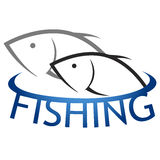 Vector design for fishing Royalty Free Stock Image