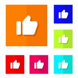 Like button. Vector design of flat icon symbol color choice stock illustration
