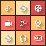 Vector design flat icons Stock Image