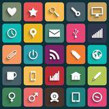 Vector Design Flat icons for Web and Mobile Stock Image