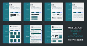 Vector design of a flat interface Stock Images