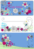 Vector design with flowers Stock Images