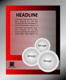 Vector design of the flyer gray and red.  Poster template for your business Stock Photography