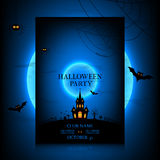 Vector design of the flyer for halloween Royalty Free Stock Photos