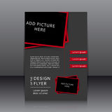 Vector design of the flyer Royalty Free Stock Photos
