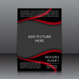 Vector design of the flyer Royalty Free Stock Photos