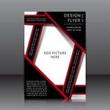 Vector design of the flyer Stock Photos