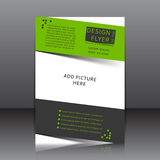 Vector design of the flyer Stock Photo