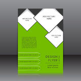 Vector design of the flyer Royalty Free Stock Photography