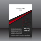 Vector design of the flyer Stock Photos