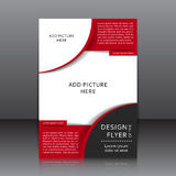 Vector design of the flyer Royalty Free Stock Image