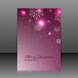 Vector design of the flyer with snowflakes Royalty Free Stock Photography