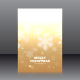 Vector design of the flyer with snowflakes Royalty Free Stock Photo