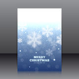 Vector design of the flyer with snowflakes Royalty Free Stock Image