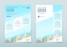 Vector design of flyer template stock illustration