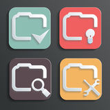 Vector Design folder icons for Web and Mobile Stock Photography