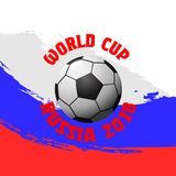 Vector design for football world cup 2018. Soccer championship badge, flyer template. Design for football world cup 2018. Soccer championship badge, flyer Royalty Free Stock Photo