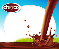 Vector design frame with chocolate splash Royalty Free Stock Image